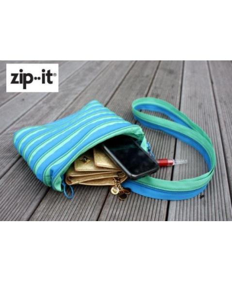 Сумка ZIPIT Premium Tote/Beach Turquise Blue&Spring Green
