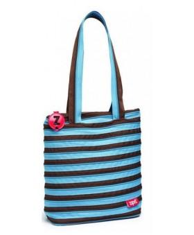 Сумка ZIPIT Premium Tote/Beach Ocean Blue&Soft Brown