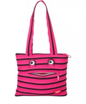 Сумка ZIPIT MONSTERS Tote/Beach Pink Begonia&Black Teeth