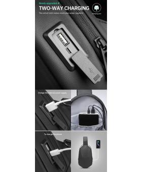 Рюкзак с одной лямкой MARK RYDEN MR7507 Mini Carbon