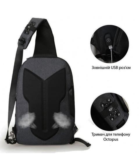 Рюкзак с одной лямкой MAZZY STAR MS177 Dark grey
