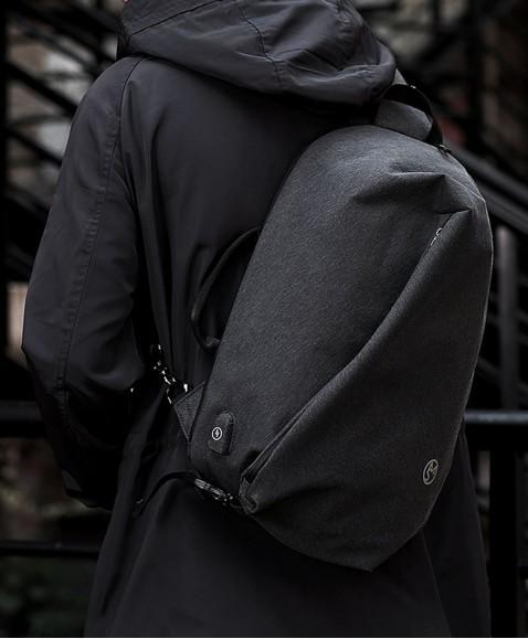 Рюкзак с одной лямкой MAZZY STAR MS177 Light grey