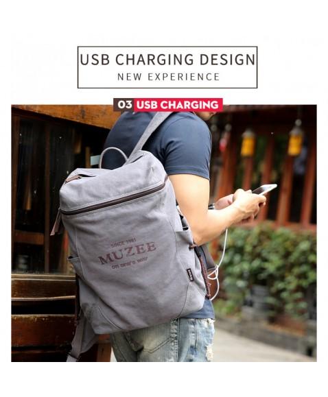 Рюкзак MUZEE ME1189 Gray