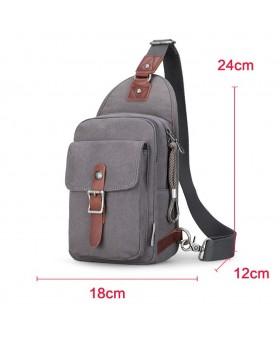 Рюкзак с одной лямкой MUZEE ME1077 Gray