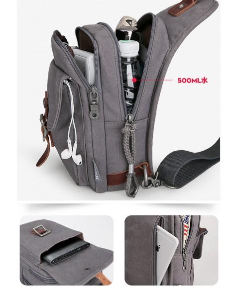 Рюкзак с одной лямкой MUZEE ME1077 Coffee