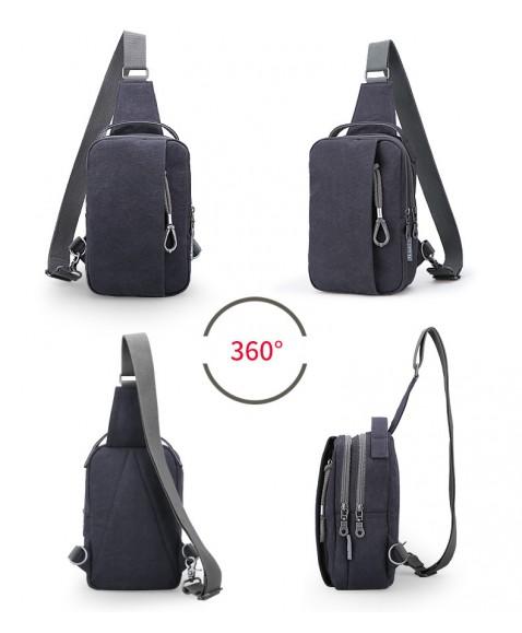 Рюкзак с одной лямкой MUZEE ME076 Gray
