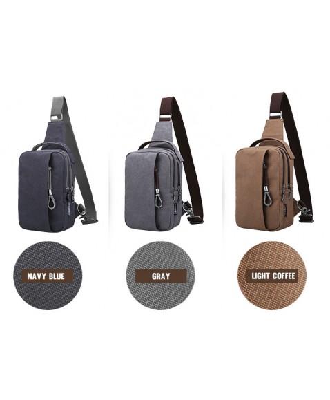 Рюкзак с одной лямкой MUZEE ME076 Dark Blue