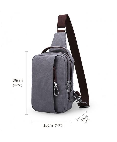 Рюкзак с одной лямкой MUZEE ME076 USB Gray