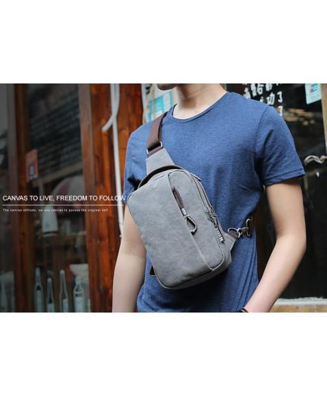 Рюкзак с одной лямкой MUZEE ME076 USB-Coffee