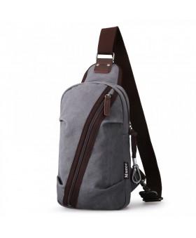 Рюкзак с одной лямкой MUZEE ME081 Gray