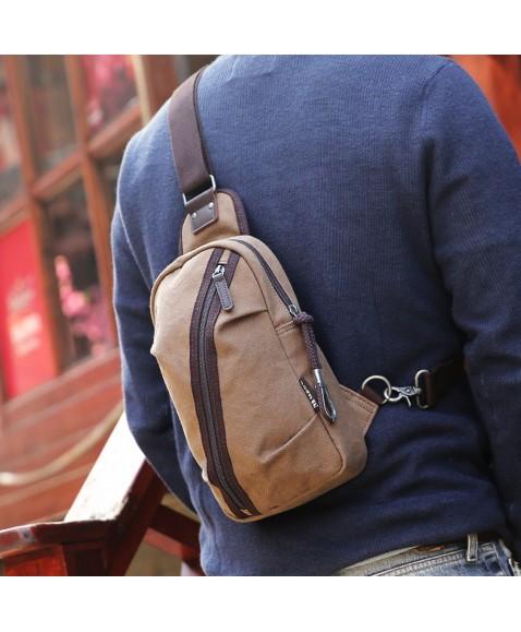 Рюкзак с одной лямкой MUZEE ME081 Coffee