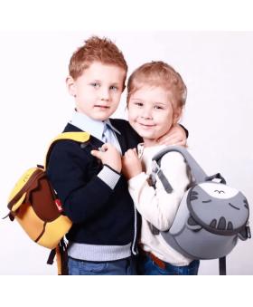 Детский рюкзак Nohoo Серый Котик Маленький
