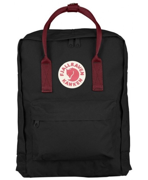 Рюкзак Fjallraven Kanken 16L Black/Ox Red