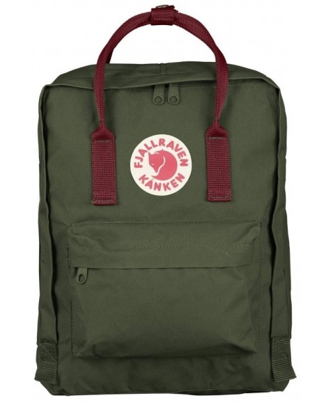 Рюкзак Fjallraven Kanken 16L Forest Green/Ox Red