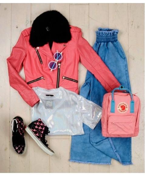 Рюкзак Fjallraven Kanken 16L Pink/Air Blue