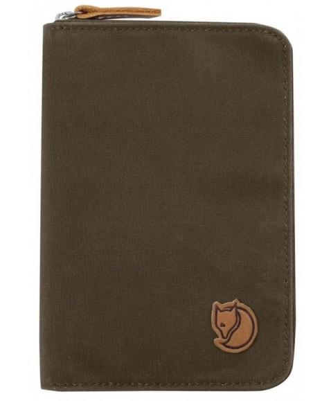 Кошелек Fjallraven Passport Wallet Dark Olive